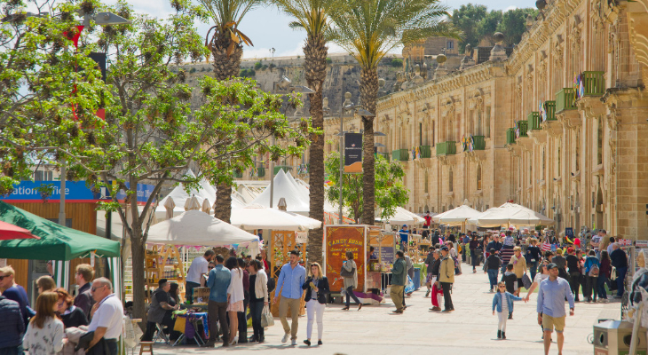 Sunshine and rainbows: Valletta Waterfront's Colour Fest promises a weekend of family fun